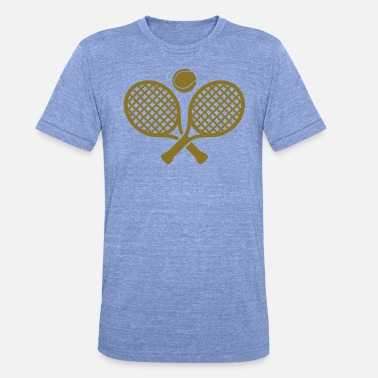 Sport Design Cool Tennis Sport Design - Unisex Tri-Blend T-Shirt