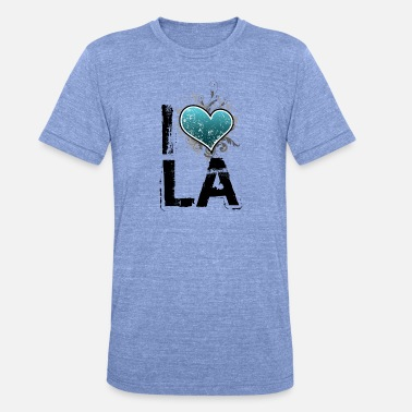 I Love La i love la uk - Unisex Tri-Blend T-Shirt