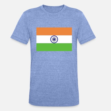 India Ink Flag of India - Unisex Tri-Blend T-Shirt