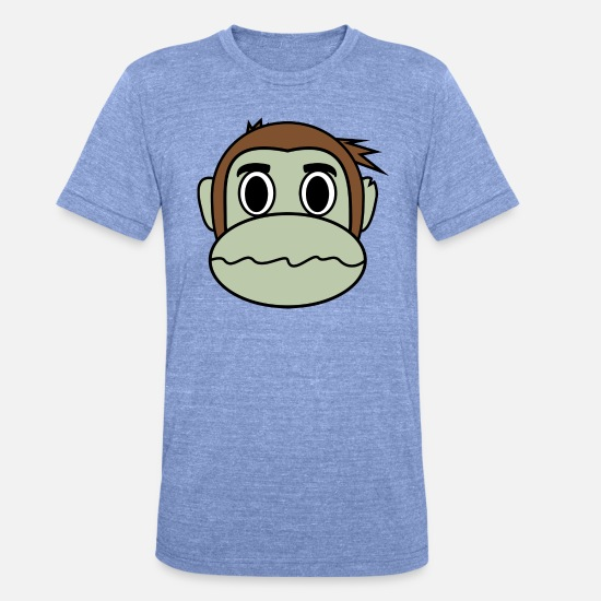 Monkey T-Shirts - Monkey collection - Unisex Tri-Blend T-Shirt heather blue