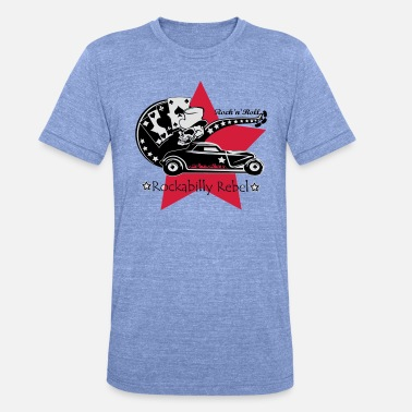 Rockabilly Rockabilly Rebel - Unisex triblend T-shirt