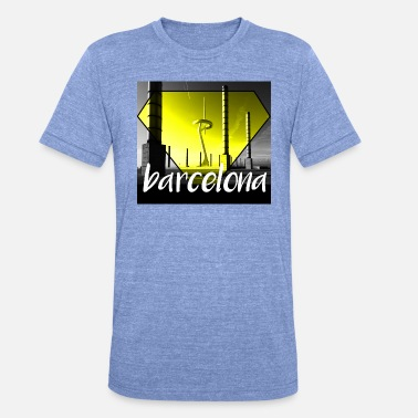 Barcelona diamantgult - Triblend-T-shirt unisex från Bella + Canvas
