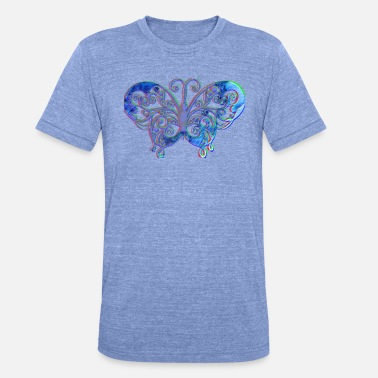 3d-effect Butterfly with 3D effect - Unisex Tri-Blend T-Shirt by Bella & Canvas