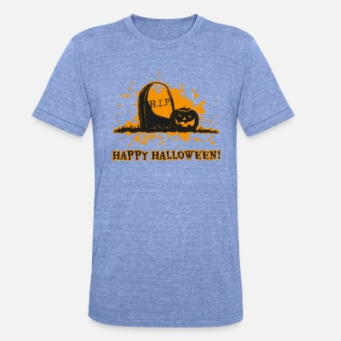 Ripped Vampire Happy Halloween RIP - Unisex Tri-Blend T-Shirt by Bella & Canvas