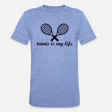 Tennis Grappig tennis - Unisex tri-blend T-shirt van Bella + Canvas