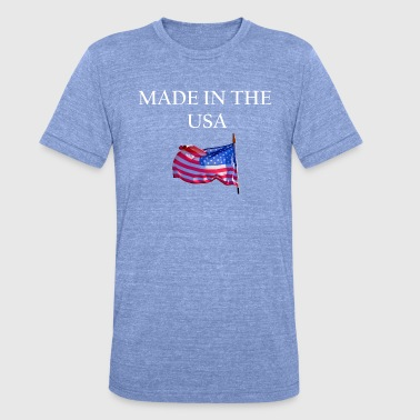 Made In Usa USA MADE IN THE USA AMERICA - Unisex Tri-Blend T-Shirt by Bella & Canvas