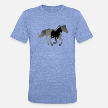 Galopp Pferd Reiten Galopp - Unisex Tri-Blend T-Shirt von Bella + Canvas
