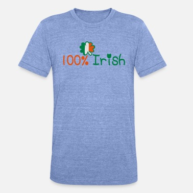 Amazing ♥ټ☘Kiss Me I'm 100% Irish-Irish Rule☘ټ♥ - Unisex Tri-Blend T-Shirt