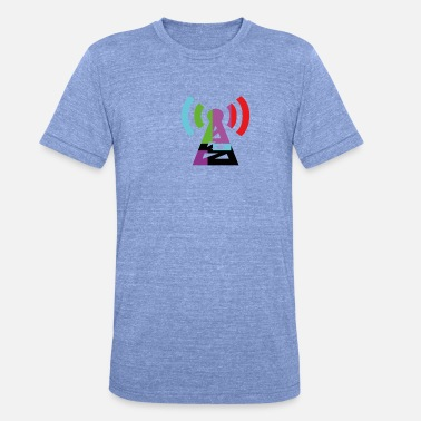 Antenna Colorful antenna - Unisex Tri-Blend T-Shirt