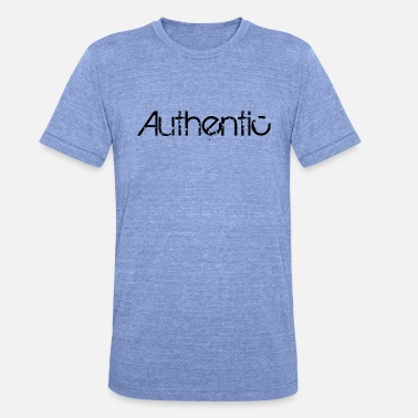 Authentique authentique - T-shirt chiné unisexe