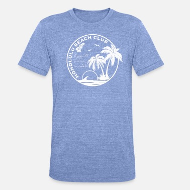 Aloha Honolulu Beach Club White - Triblend T-shirt unisex