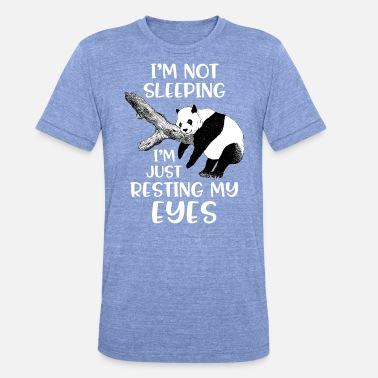 035df0dc78259 Dors Lazy Panda sur l  39 arbre - Je ne suis pas dormir -. T-shirt chiné  unisexe