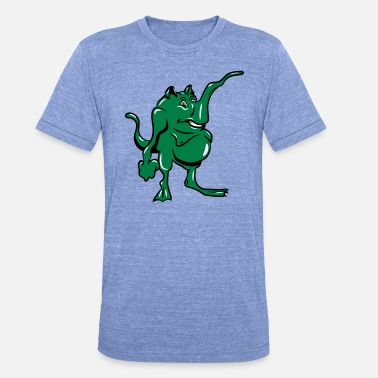 Slurf Monster grappige slurf - Unisex triblend T-shirt