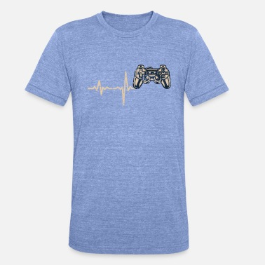Game Console Shirt Gift Heartbeat game console - Unisex Tri-Blend T-Shirt