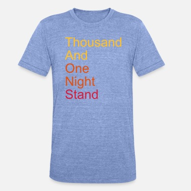 Parodie thousand and one night stand 3colors - T-shirt chiné unisexe