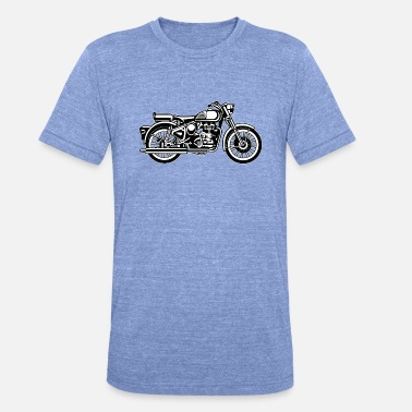 Jawa Motorcycle / Motorcycle 02_black white - Unisex Tri-Blend T-Shirt