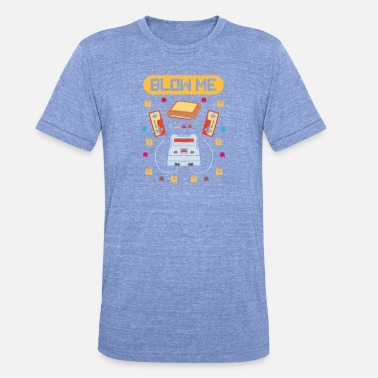 80s Retro Gaming Blow Me 80s 90s - Unisex tri-blend T-skjorte fra Bella + Canvas
