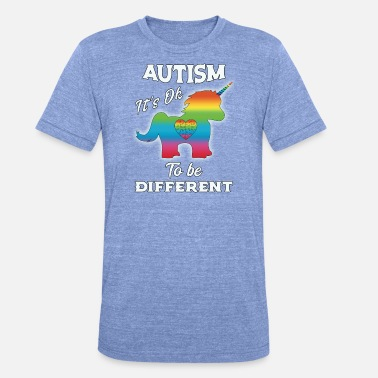 Upplysning Om Autism Autism Awareness Unicorn Autism - Triblend-T-shirt unisex från Bella + Canvas