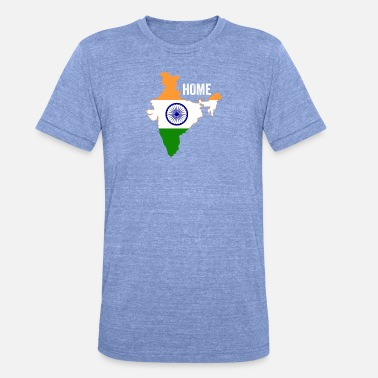 Jaipur India Home Flag - Unisex tri-blend T-skjorte fra Bella + Canvas