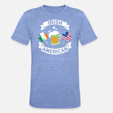 Irish Music Irish Irish St Patricks Day Shirt Irish Beer - Maglietta unisex tri-blend di Bella + Canvas