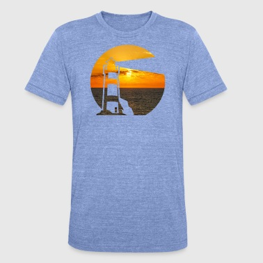 Double Exposure Lighthouse on the sea double exposure - Unisex Tri-Blend T-Shirt by Bella & Canvas