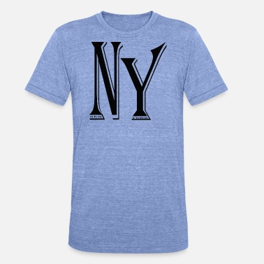 Ny NY - Unisex Tri-Blend T-Shirt von Bella + Canvas
