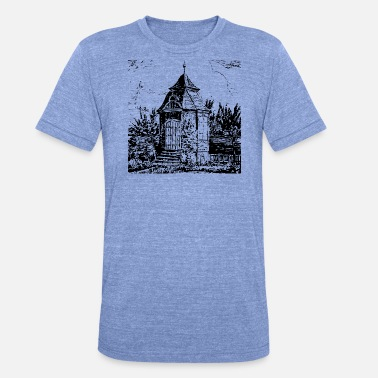 Nordrhein Radevormwald historic garden house - home - Unisex Tri-Blend T-Shirt
