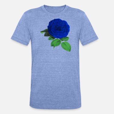 Rose Blue Blue rose - Unisex Tri-Blend T-Shirt by Bella & Canvas
