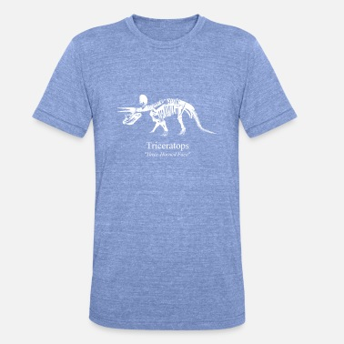 Triceratops Triceratops weiss - Unisex T-Shirt meliert