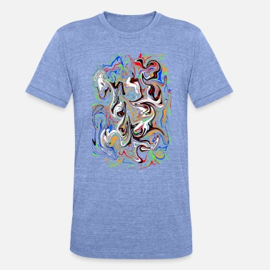 Salpicador De Colores ensalada de colores - Camiseta Tri-Blend unisex de Bella + Canvas