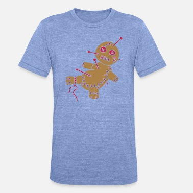 Stich 2 col - Voodoo Puppe Doll Funny Game Hawaii Tattoo - Unisex T-Shirt meliert