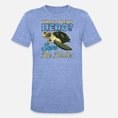 Save The Turtle Save The Turtles - Unisex T-Shirt meliert