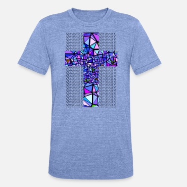 Gedächtniskirche BLUE CROSS ADMIRABLE - Unisex tri-blend T-skjorte fra Bella + Canvas