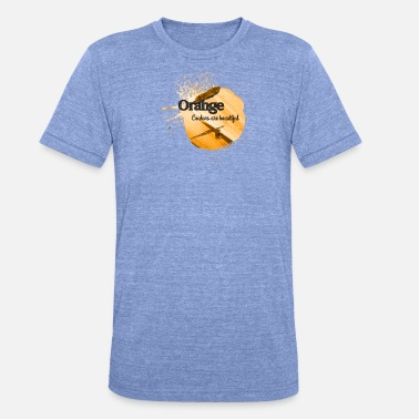 Salpicador De Colores Color naranja fresco regalo de la fiebre color favorito - Camiseta Tri-Blend unisex de Bella + Canvas
