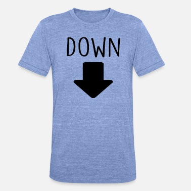 Down With Detroit giù - Maglietta unisex tri-blend di Bella + Canvas