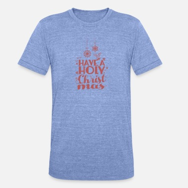 Holi Stars Holy night star jewelry gift Christmas - Unisex Tri-Blend T-Shirt by Bella & Canvas