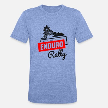 Cross Motor Enduro Rally Adventure Stunt Motor Cross Biker - Unisex tri-blend T-shirt van Bella + Canvas