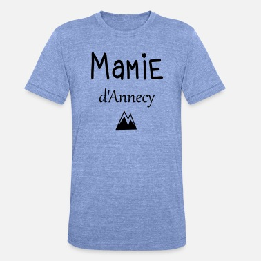 Annecy Mamie d'Annecy - T-shirt chiné Bella + Canvas Unisexe