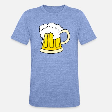 Style Beer in comic style - Unisex Tri-Blend T-Shirt by Bella & Canvas