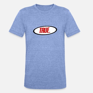 True Metal True Shirt-logo - Unisex tri-blend T-shirt van Bella + Canvas