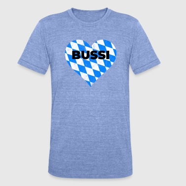 Bavaria flag heart Bussi Oktoberfest - Unisex Tri-Blend T-Shirt by Bella & Canvas