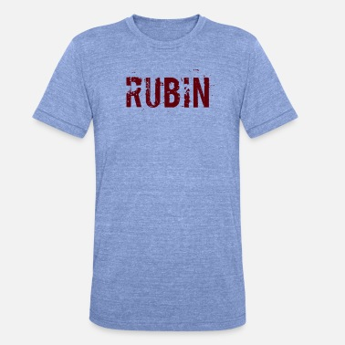 Rubin Rubin - Unisex Tri-Blend T-Shirt von Bella + Canvas