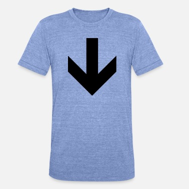 Nuoli This Way Down arrow - Unisex triblend t-paita