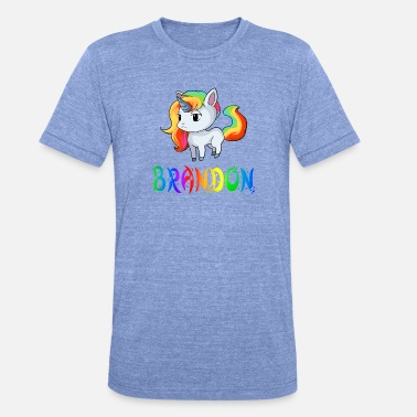 Brandon Brandon unicorn - Unisex Tri-Blend T-Shirt