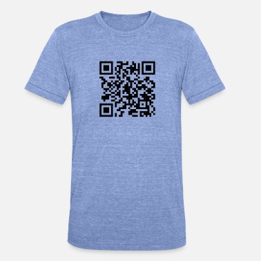 Code Qr QR code - T-shirt chiné Bella + Canvas Unisexe