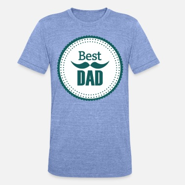 Superpapa Best Dad Vater Daddy Papi Papa Dad - Unisex T-Shirt meliert