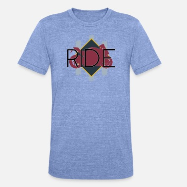 Ride your Motorcycle! Black font design - Unisex T-Shirt meliert
