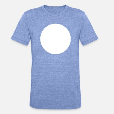White White Circle Empty - Unisex Tri-Blend T-Shirt