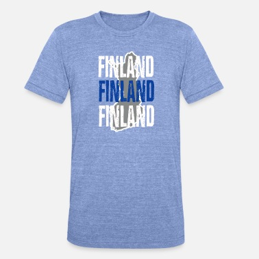Helsinki Quotes finland - Unisex Tri-Blend T-Shirt by Bella & Canvas