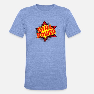 Powerfrau Frauenpower Girlpower Powergirl Frauenpower Powerfrau - Unisex Tri-Blend T-Shirt von Bella + Canvas